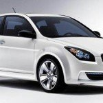 White Hyundai Accent car