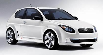 White Hyundai Accent car