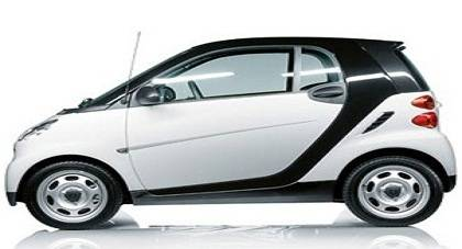 Smart Fortwo Coupe car in white