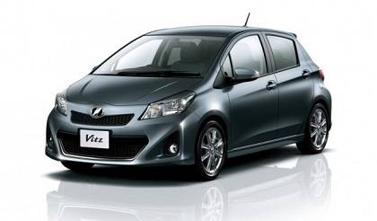 Toyota Yaris vehicle in black