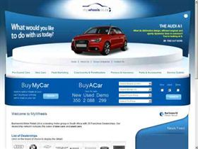 The MyWheels.co.za website