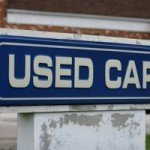 Sign for used cars
