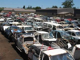 South African car scrap yard